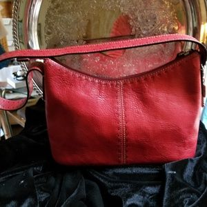Vtg Fossil Cherry Red Shoulder Bag ZB9092